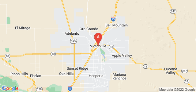 map of Victorville, United States of America